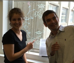 Kate and Alex after the ACS Catalysis paper is published.